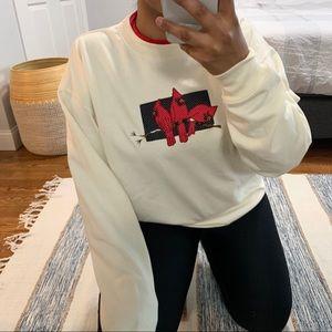 Vintage M&C Sportswear Cardinal Bird Sweater
